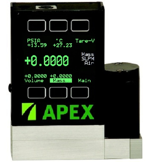 Apex Mass Flow Controller TFT Screen Option