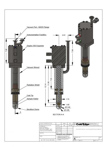 Laboratory-Cryo-cooler goniometer