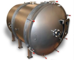 rough and high vacuum horizontal chamber